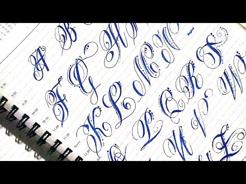 ALFABETO ARTÍSTICO/CALIGRAFIA ESPECIAL   Best Stylist Calligraphy From A A Z