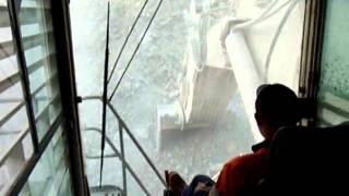 Liebherr 995 loading Cat 793 In-Cab View Telfer Gold Mine