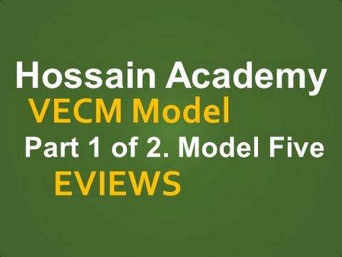VECM. Part 1 of 2. Model Five. EVIEWS