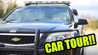 WHAT'S INSIDE A POLICE CAR?!