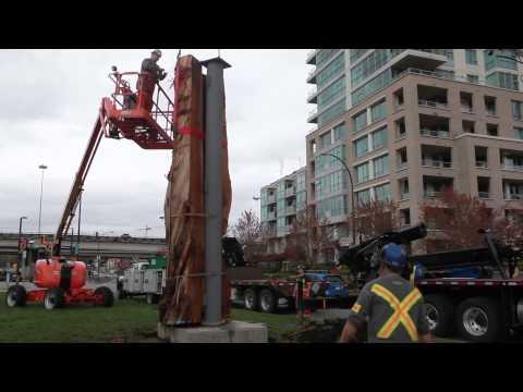 Vancouver Biennale: Marcus Bowcott's Trans Am Totem