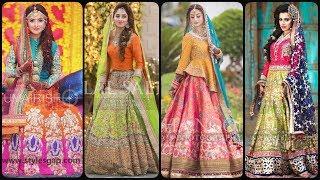 latest lehenga designs 2020 for mehndi