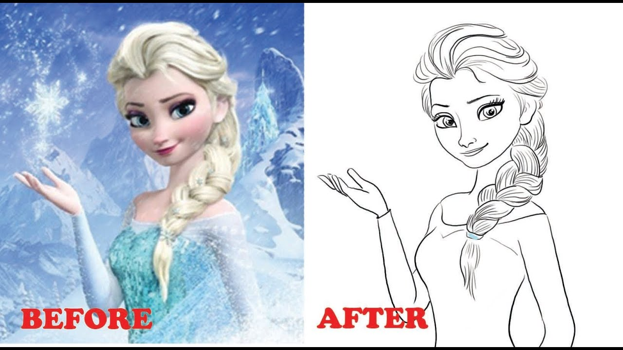 How To Draw Elsa From Frozen Narrated Step By Step Part 1 Youtube