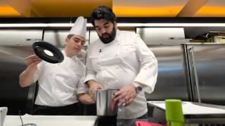Chips croccante di riso con Gorgonzola e sedano - Le Ricette di A. Cannavacciuolo
