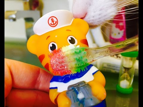 DANIEL TIGER Brushing Teeth with Light Up Life Of Pets Toothbrush!