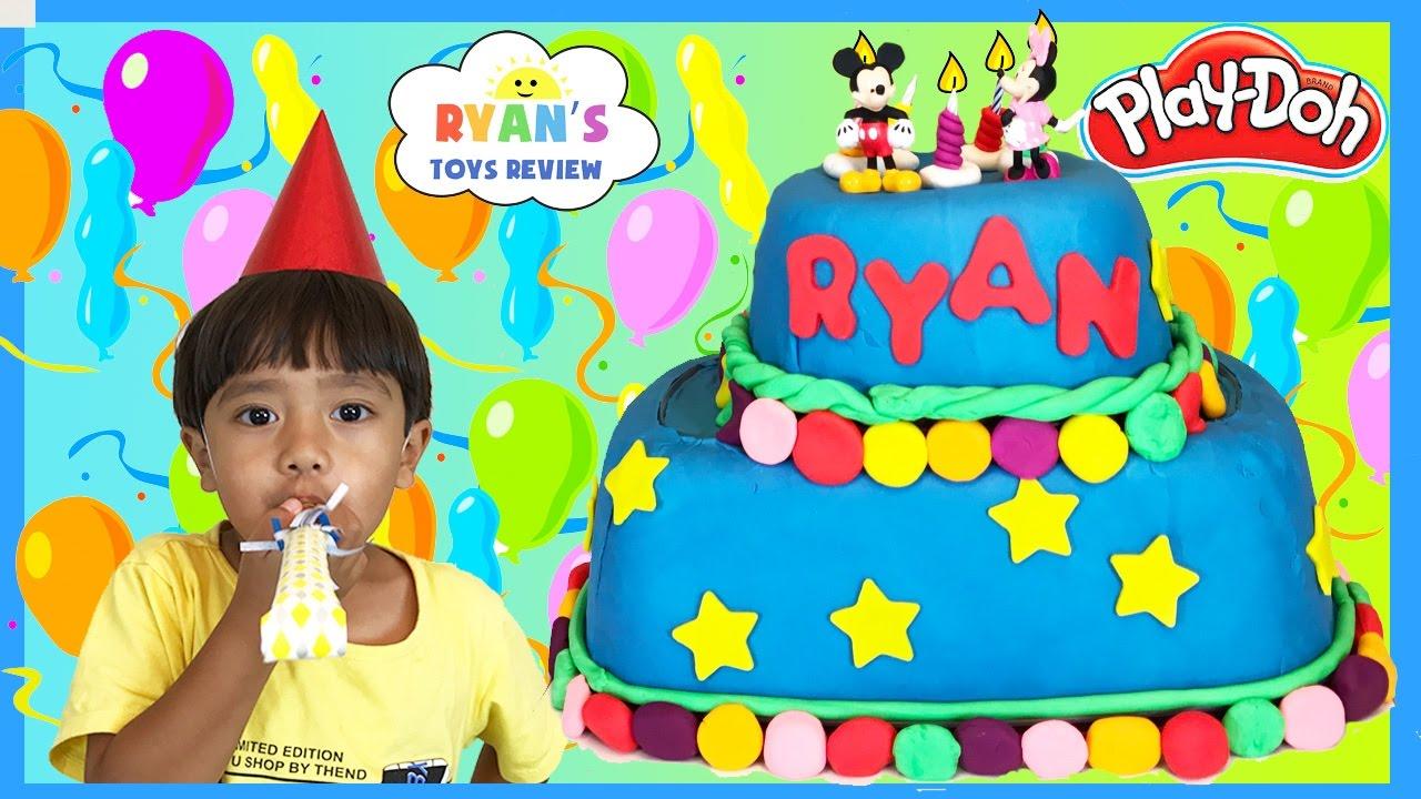 Play Doh Cake Happy Birthday Chocolate Surprise Eggs Youtube
