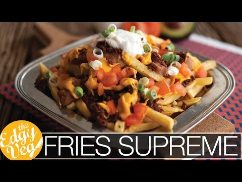 Taco Bell Fries Supreme VEGAN Recipe | The Edgy Veg
