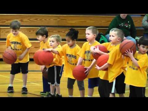 Frederic Elementary School Kindergarten and 1st grade basketball demonstration