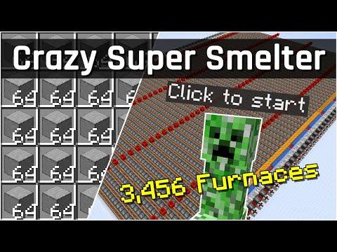 Fastest Furnace Smelter Array I Ever Made! Super Smelter Challenge | Minecraft 1.17