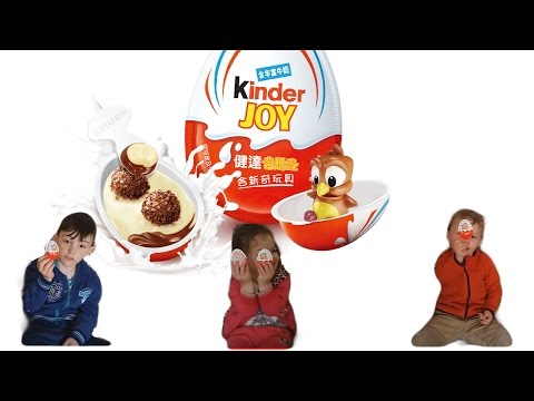 Kinder Joy Surprise Eggs Unboxing