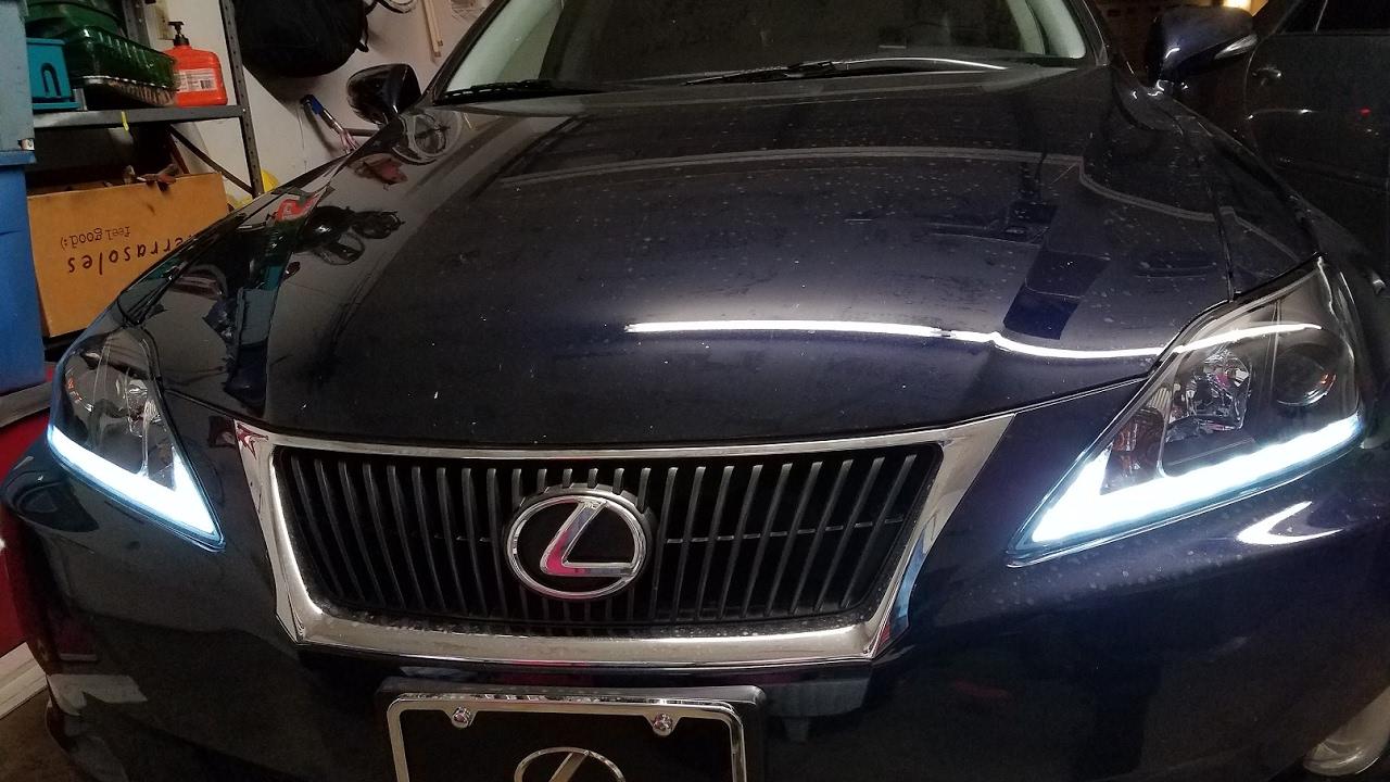 lexus is 250 drl lights