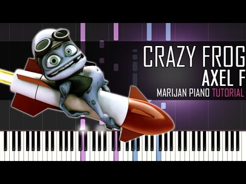 How To Play Axel F Crazy Frog Piano Tutorial Youtube