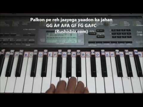 Tanha Dil - Shaan - Indi Pop - Piano Tutorials