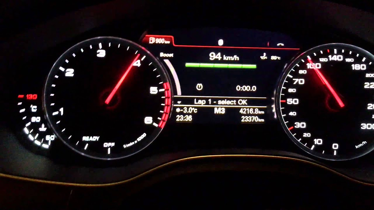 Gas Gauge Not Working >> Audi A6 2015 3.0 tdi 218hp Shift Light, Lap Timer and Boost Gauge VCDS mod tuning stm - YouTube