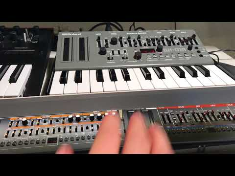 Nitzer Ebb - Join In The Chant (Instrumental cover, Roland Boutique SH-01A TR-09 AIRA TR-8 MX-1)