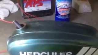 Tank reinigen mit Badreiniger, Kloreiniger, Chlorreiniger