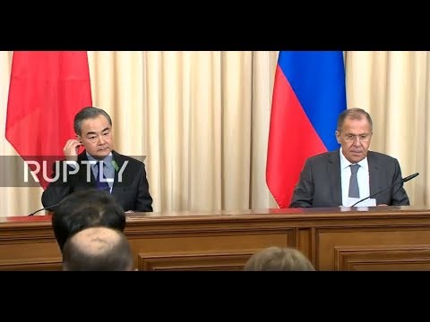 Live: Lavrov and Chinese FM hold joint press conference in Moscow