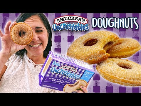 How to Make Uncrustables Doughnuts   Easy DIY PB&J Donut Recipe Hack
