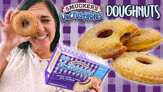 How to Make Uncrustables Doughnuts | Easy DIY PB&J Donut Recipe Hack
