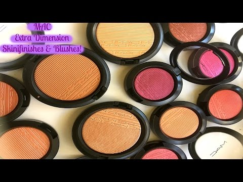 MAC Extra Dimension Skinfinish + Blushes HAUL! *ALL SHADES!*