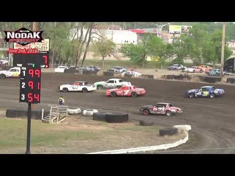 Nodak Speedway IMCA Hobby Stock Heats (6/2/19)