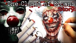 Scary Clown: STORY - Creepypasta + Drawing (Horror Story)