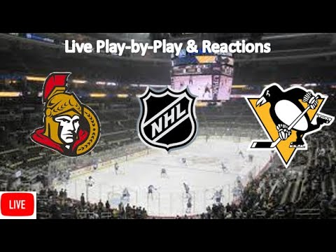 Ottawa Senators Vs. Pittsburgh Penguins Live Stream | Live Play-by-Play, Reaction | NHL
