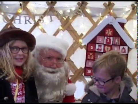 Santa's Grand Arrival at Squire's Woking 2015