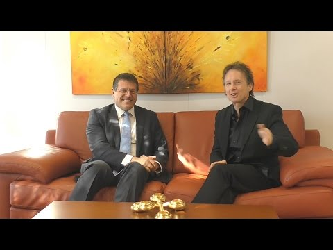 Maros Sefcovic - Interview by Alexander Louvet - Powershoots TV - Positive Energy in Europe