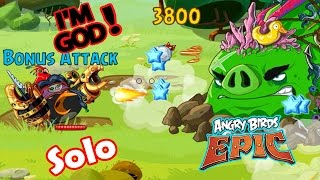 Angry Birds Epic: Gameplay (Dangers From The Deep) Bomb Solo Defeat The World Boss