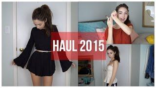 Clothing & Makeup Haul 2015 | Chelsea Trevor