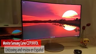 Monitor Samsung Curvo C27F591FDL | Unboxing and review en Español