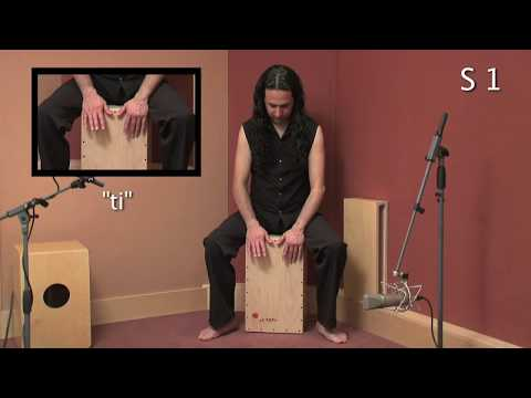 Cajon (1/3) técnica española POSTURA Y SONIDOS / POSTURES AND SOUNDS Spanish technique