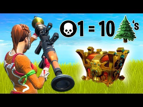 1 KILL = 10 TREES for MR BEAST!! (Fortnite Battle Royale)