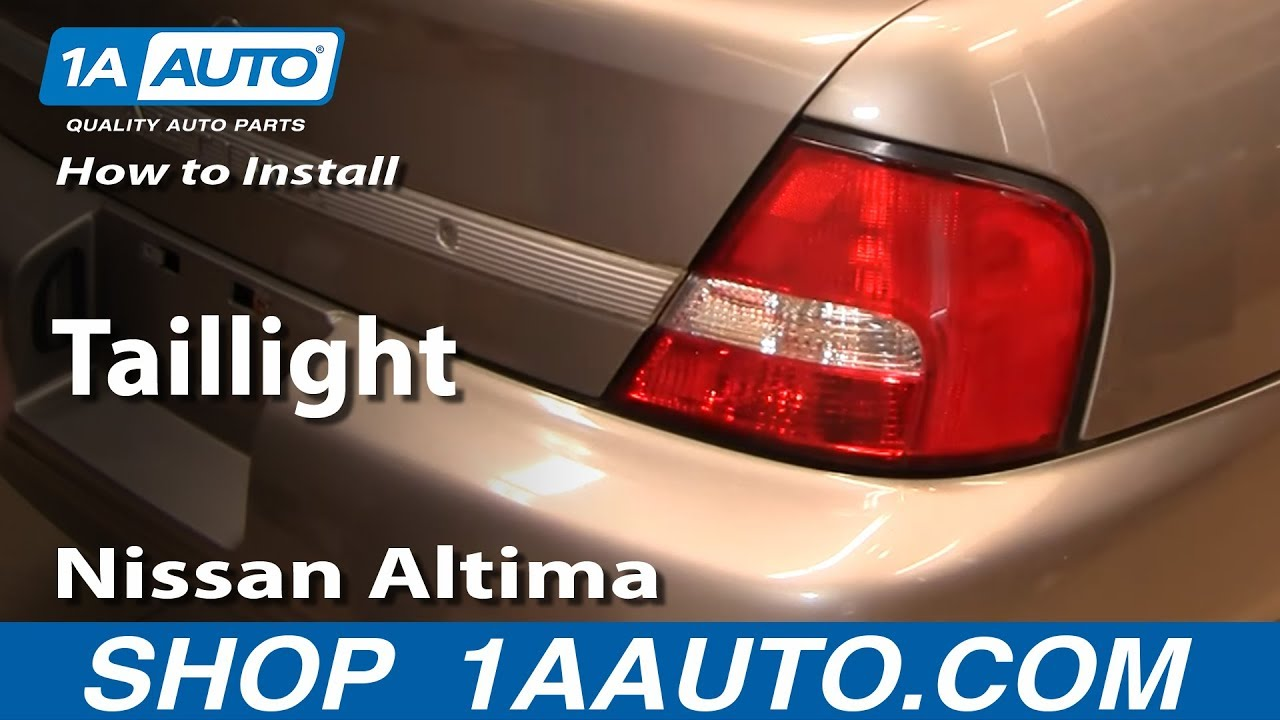 How To Replace Tail Light 00 01 Nissan Altima
