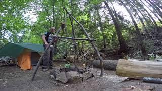 Building A Tripod Smoker In The Field