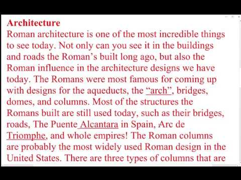 Roman Influence in Society