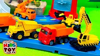 Working machines #Toys cars: transporter, garbage truck, truck crane, excavator, loader, dump truck.