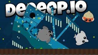 Mope.io in Deeeep.io! - Attack of the Whales! - Deeeep.io Hack Gameplay