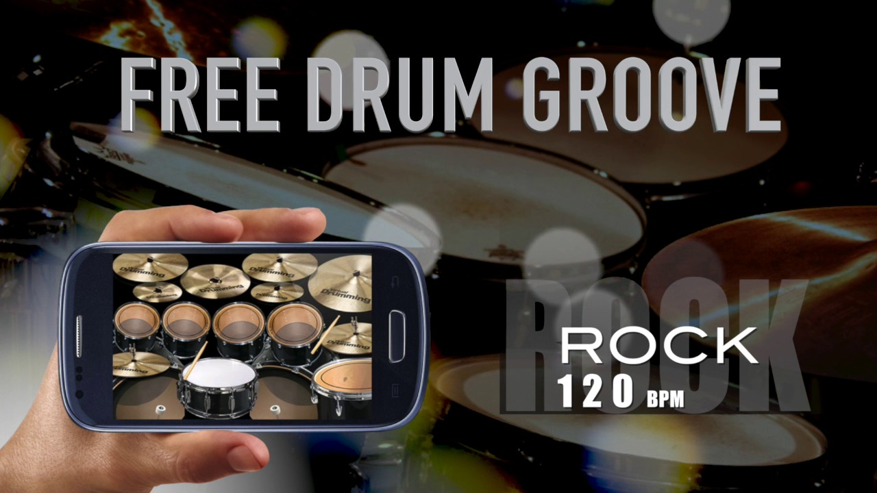 120 bpm Rock beat Free Drum Groove Loop