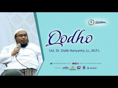 Mengganti ( Qadha' ) Puasa   Ust. Dr. Didik Hariyanto, Lc., M.P.I.