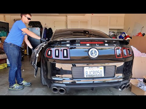 Taking delivery of my Shelby 1000 wide body kit