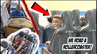 I TOOK THE KIDS TO A FUN PIER & WE ROAD A ROLLER COASTER!!