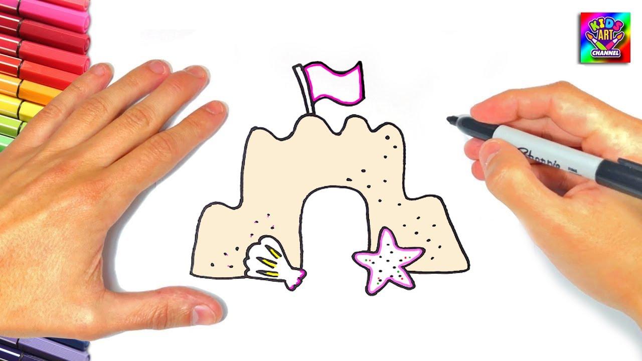Sand Castle, Draw a castle, Dibujar un Castillo de Arena