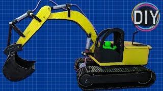 How to make Hydraulic Excavator from Cardboard | (Easy DIY Hydraulic Excavator/JCB/Bulldozer)