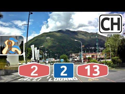 Svizzera. A2, 2, A13. Lugano - Ascona - Locarno