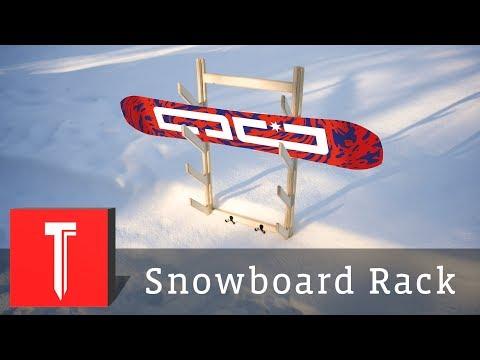 Simple Plywood Snowboard Rack
