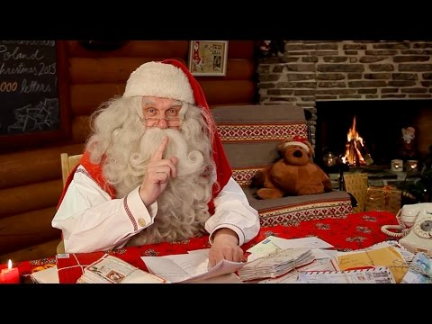 Santa Claus video message to children from Lapland Finland Rovaniemi Father Christmas Merry Xmas