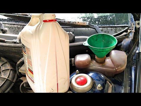 Замена тосола на антифриз, промывка системы охлаждения, как разводить антифриз. ВАЗ 2112 АВТОпрактик