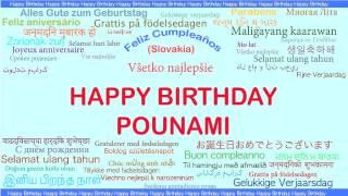 Pounami   Languages Idiomas - Happy Birthday